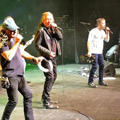 Brian Johnson volta aos palcos e canta com Robert Plant e Paul Rodgers