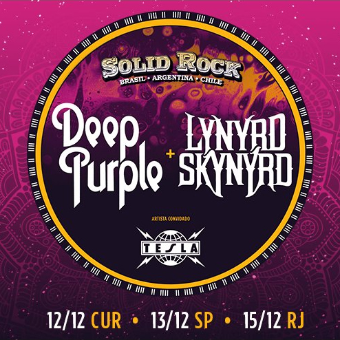 Deep Purple, Lynyrd Skynyrd e Tesla 2017: CONFIRMADOS NO BRASIL